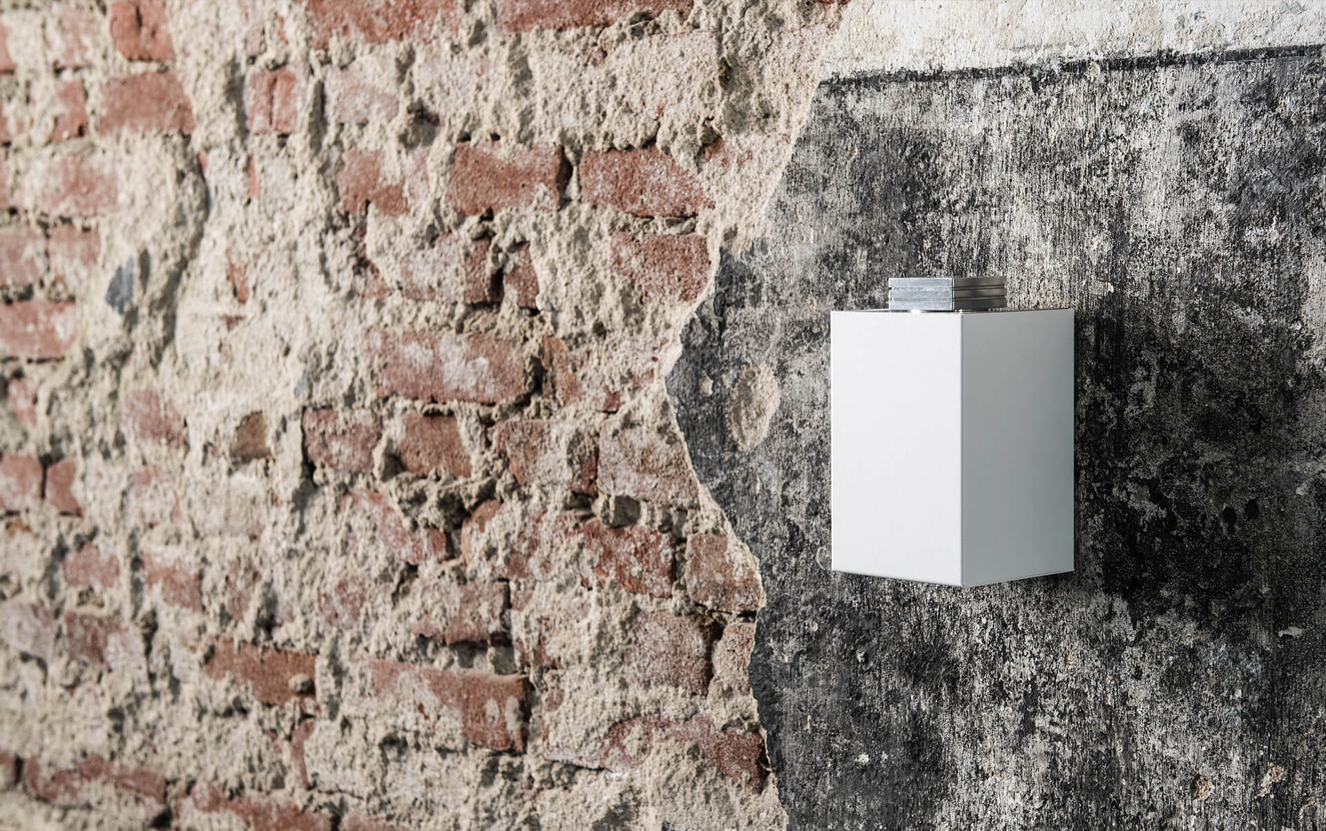 scent machine zaluti air 3 on brick wall